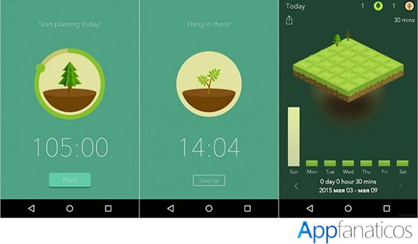 Forest app productividad