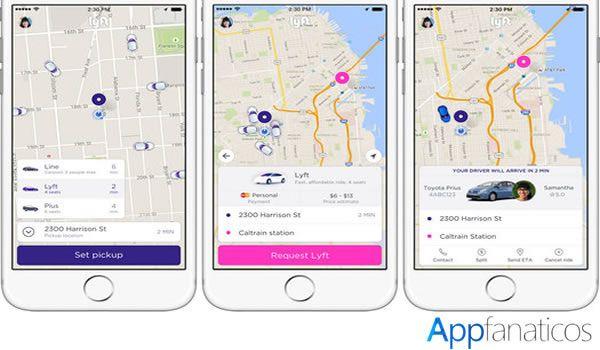 Lyft app de transporte