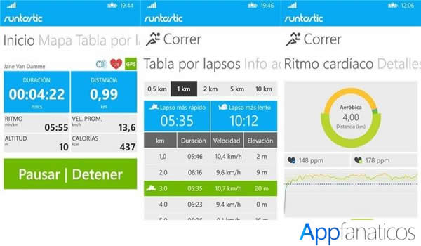 RuntasticPro app