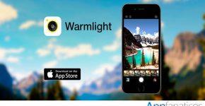 Warmlight app para fotos