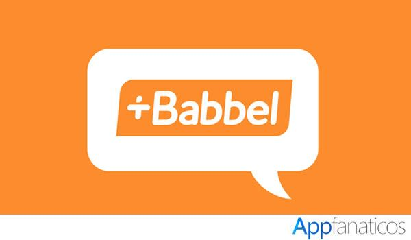 Aplicación de idioma Babbel