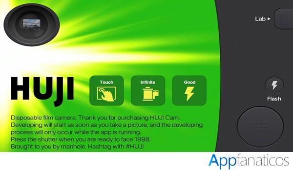 Huji Cam aplicacion para fotos