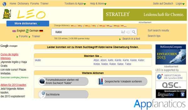 Leo Dictionario app
