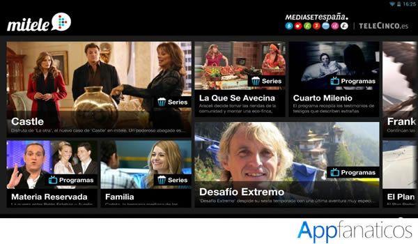 Mitele app para tv
