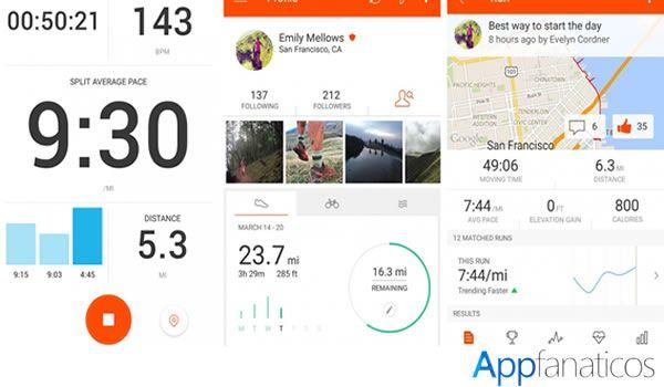 Strava app para corredores