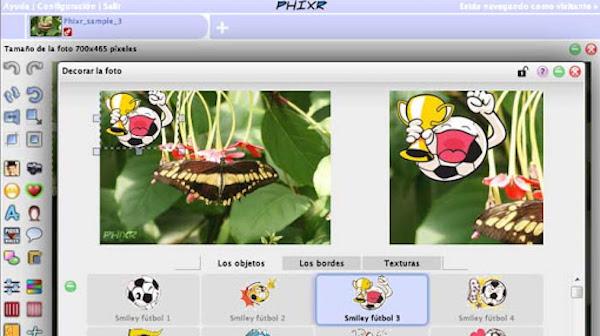 Phixr app de edicion de fotos